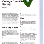 High School Senior College Checklist for Spring